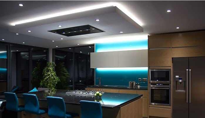 kitchen led strip lighting mood lighting using 10m led lights visualchillout 5326