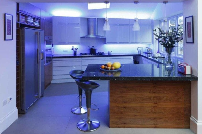 Kitchen Lighting Using LED Strip Kits