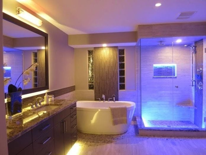 Better bathrooms with rgb led lighting visualchillout better bathrooms with rgb led lighting mozeypictures Images
